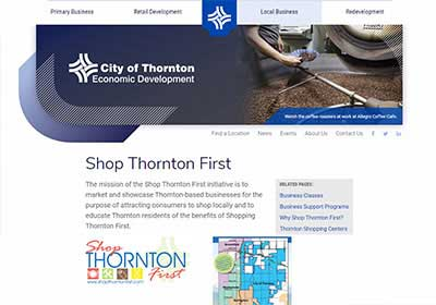 screenshot of shopthorntonfirst.com website