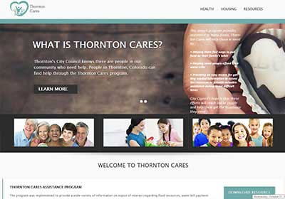 screenshot of thorntoncares website