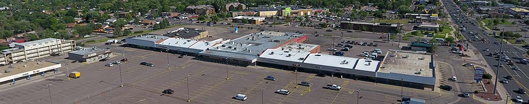 Thornton shopping center aerial view