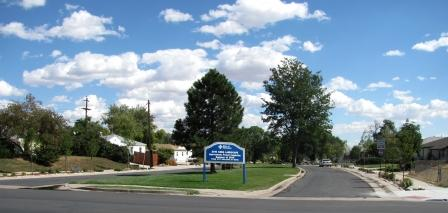 landscape view of Thornton city sign